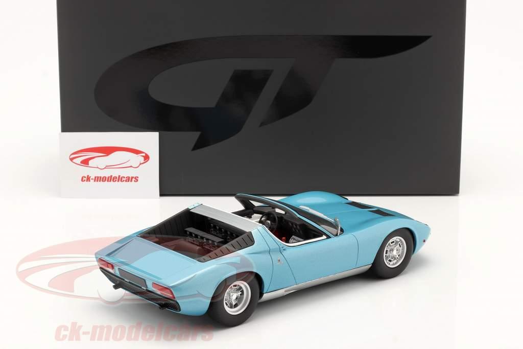 Lamborghini Miura P400S Roadster Baujahr 1968 blau 1:18 GT-SPIRIT