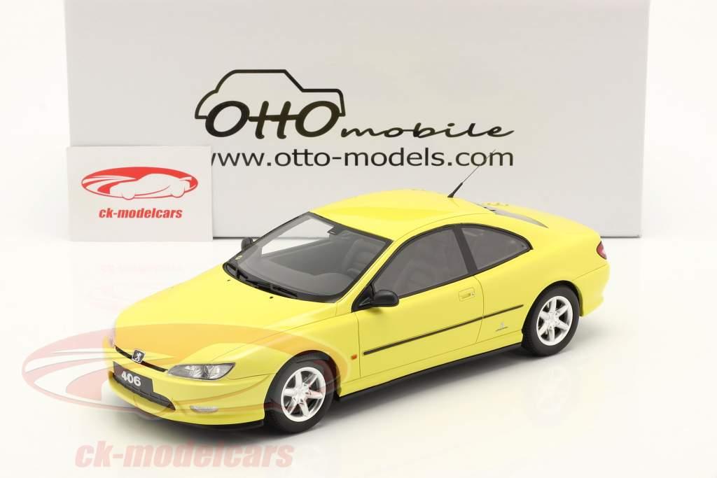 Peugeot 406 V6 Coupe Phase 1 Byggeår 1997 gul 1:18 OttOmobile