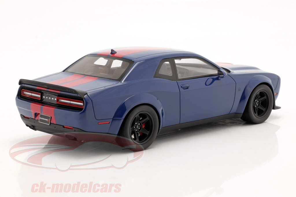 Dodge Challenger SRT Coupe Super Stock 2021 indigo blue / red 1:18 GT-SPIRIT