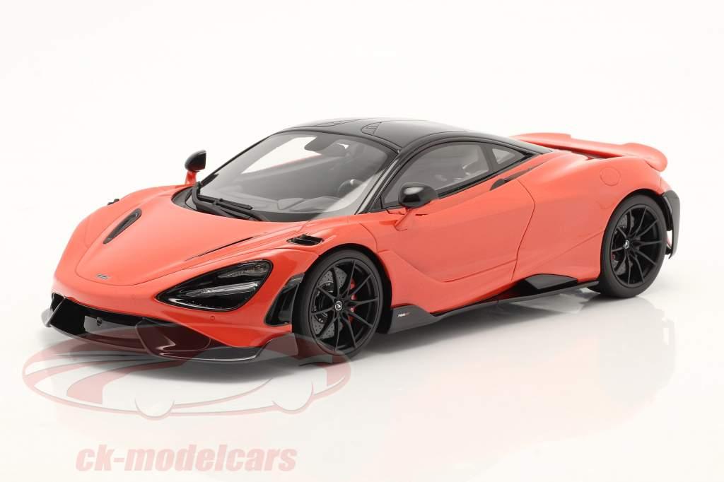 McLaren 765LT year 2020 orange metallic 1:18 GT-SPIRIT