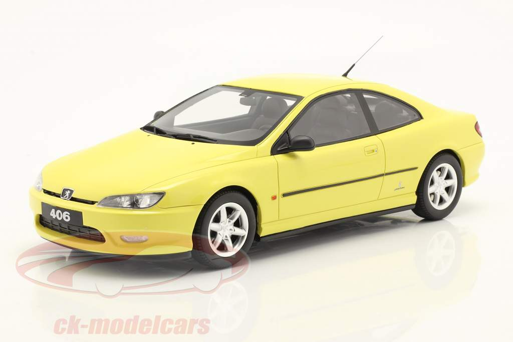 Peugeot 406 V6 Coupe Phase 1 year 1997 yellow 1:18 OttOmobile