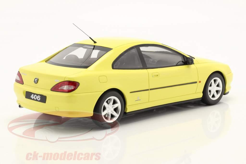 Peugeot 406 V6 Coupe Phase 1 Año de construcción 1997 amarillo 1:18 OttOmobile