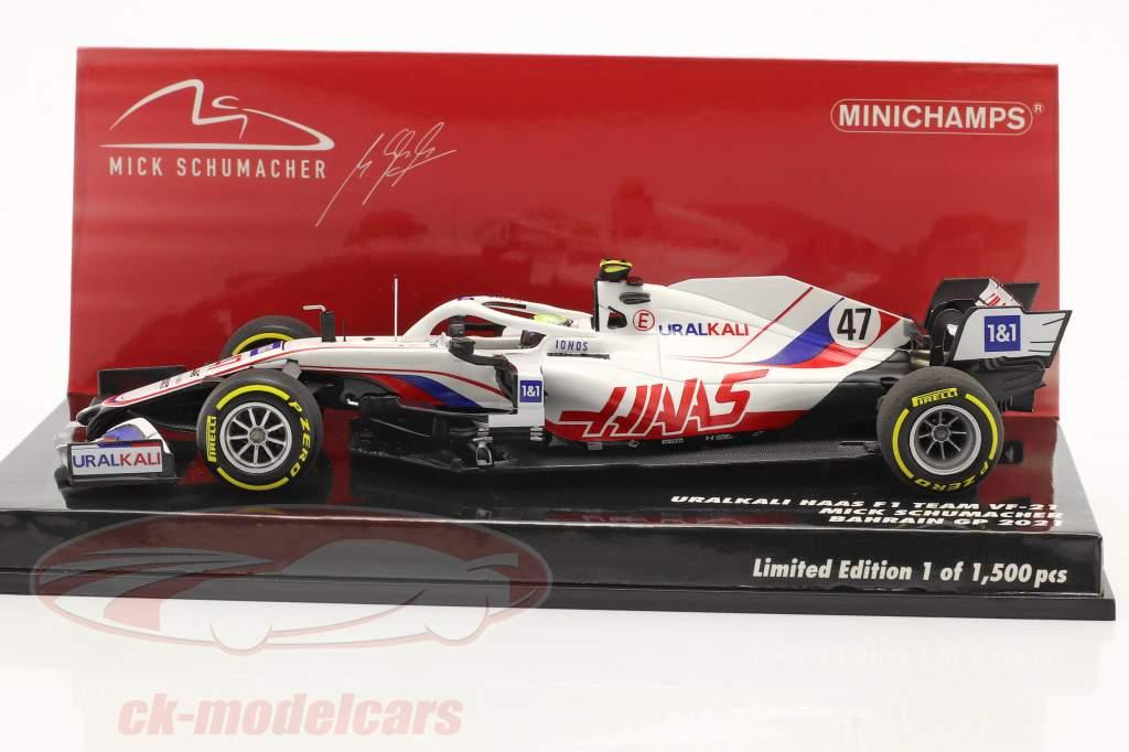 Mick Schumacher Haas VF-21 #47 Bahréin GP fórmula 1 2021 1:43 Minichamps