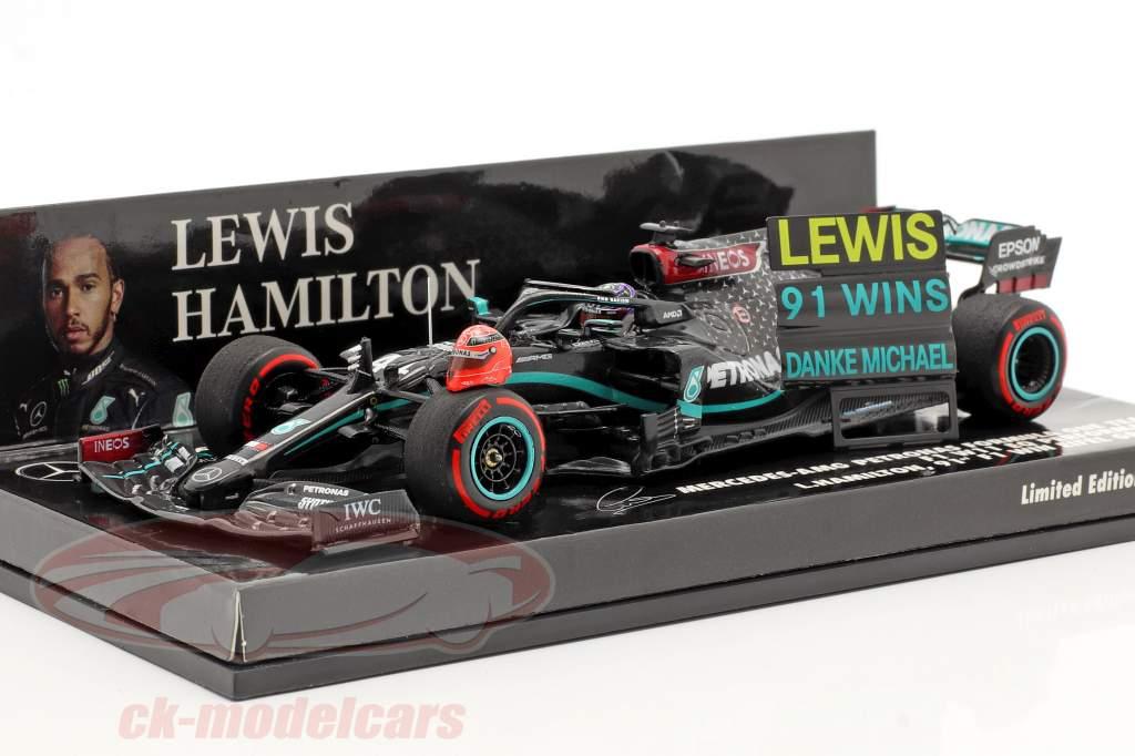 Hamilton Mercedes-AMG F1 W11 #44 91º Ganar Eifel GP fórmula 1 2020 1:43 Minichamps
