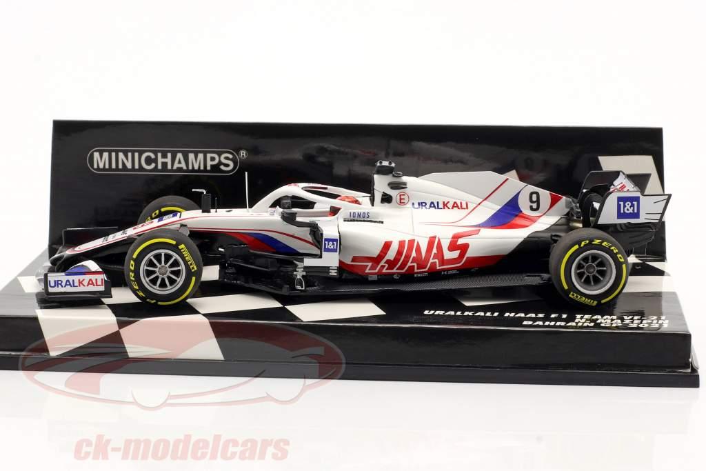 Nikita Mazepin Haas VF-21 #9 Bahrain GP formel 1 2021 1:43 Minichamps