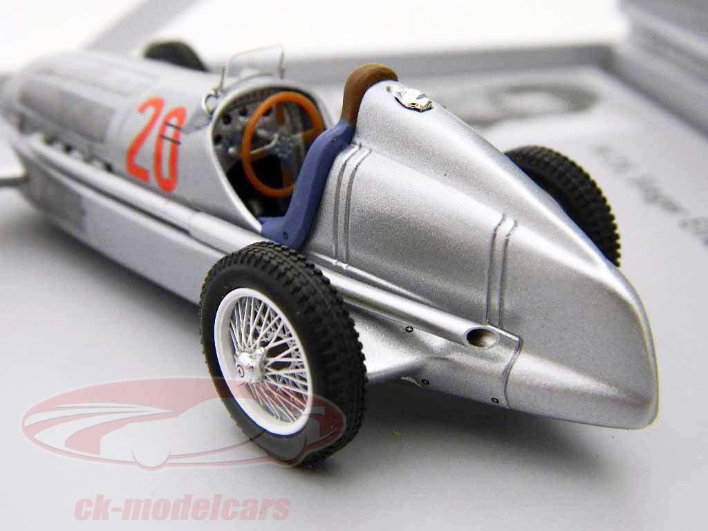 Mercedes Benz W25 Silver Arrow #20 von Brauchitsch formule 1 1934 1:43 Minimax