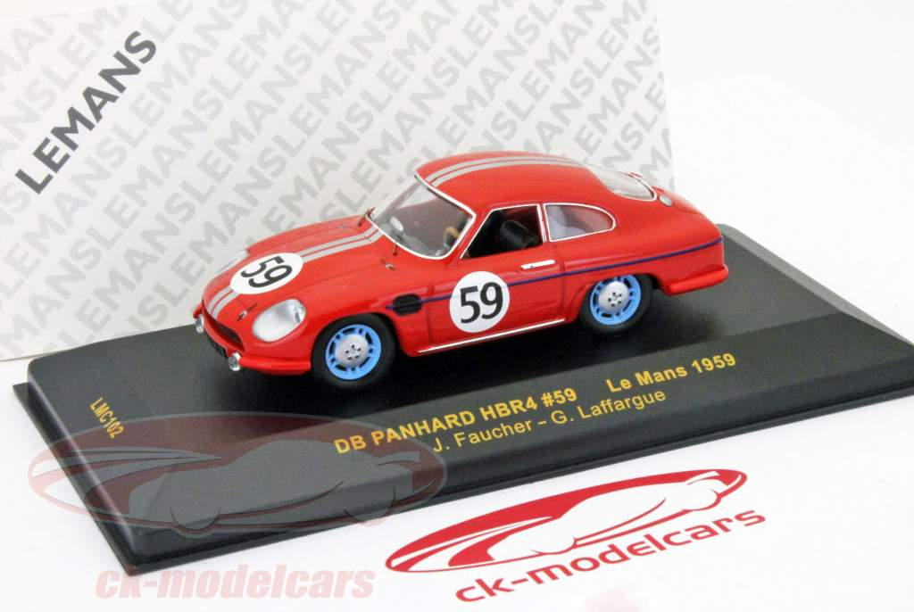 DB Panhard HBR4 º 59 24h Le Mans 1959 Faucher / Laffargue 1:43 Ixo