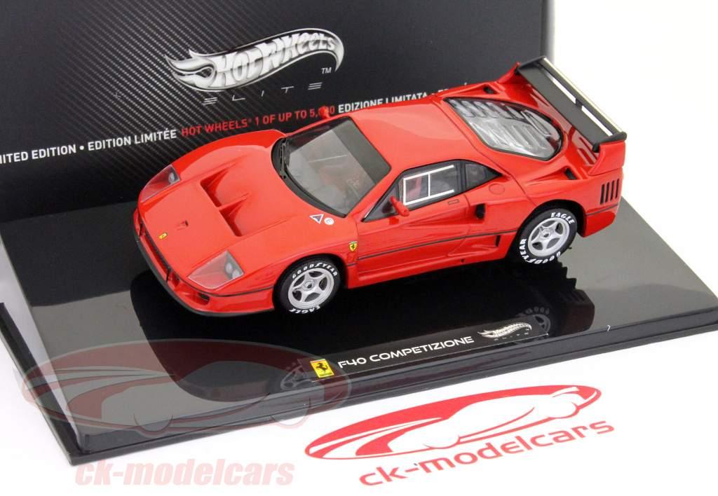 Ferrari F40 Competizione Testcar 24h LeMans 1995 red 1:43 HotWheels Elite