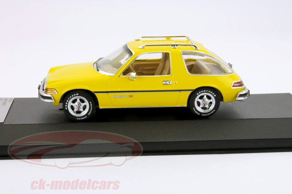 AMC Pacer X bygget i 1975 gul 1:43 Premium X