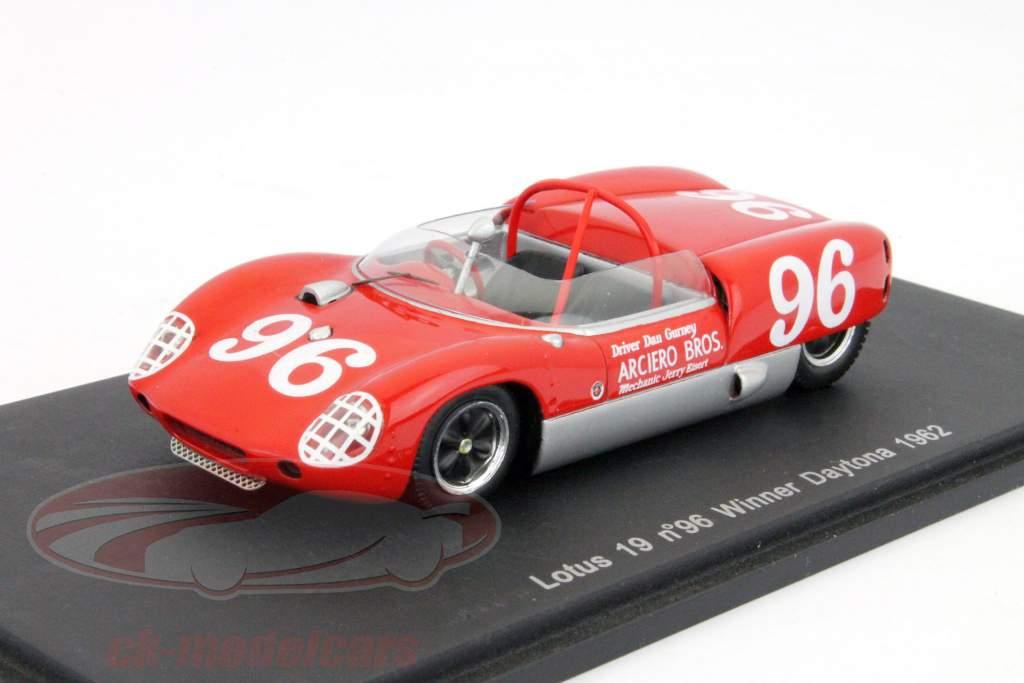 Lotus 19 #96 24h Daytona vincitore 1962  D. Gurney 1:43 Spark