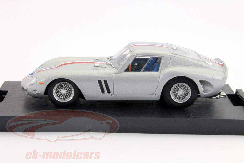 Ferrari 250 GTO built in 1962 with silver colored stripe 1:43 Brumm