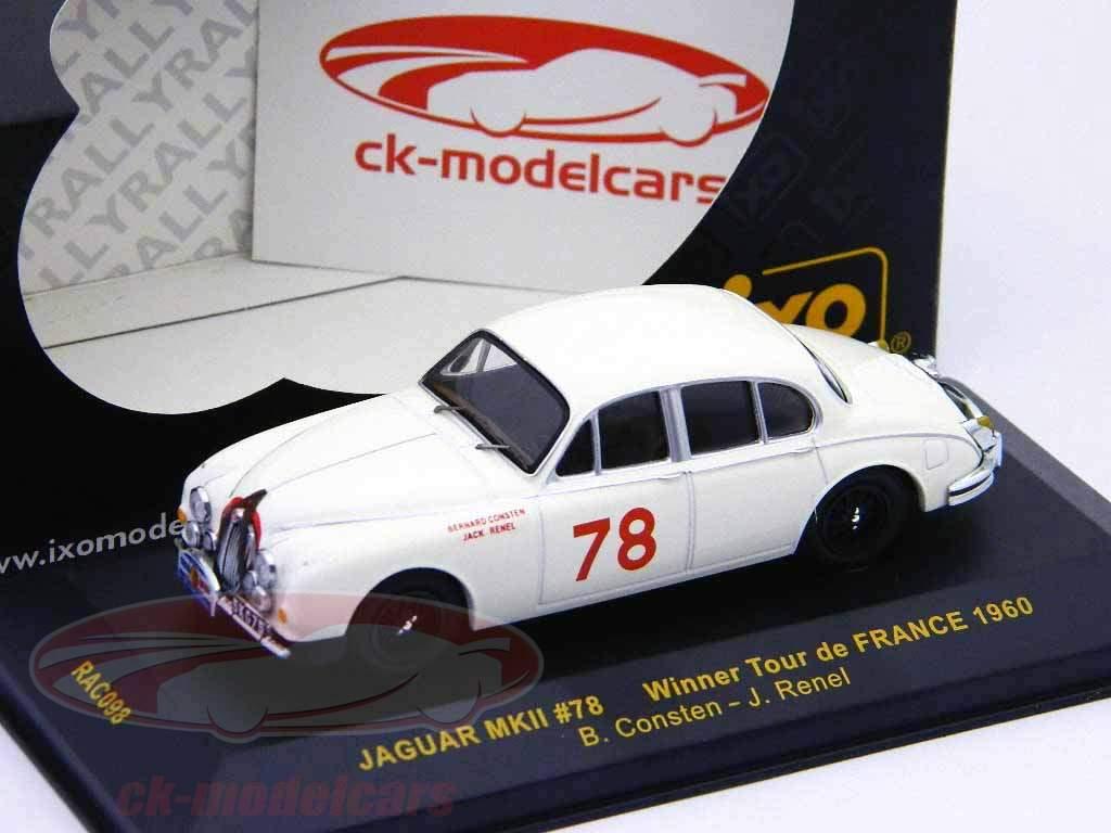 Jaguar MKII #78 Winner Tour de France 1960 1:43 Ixo