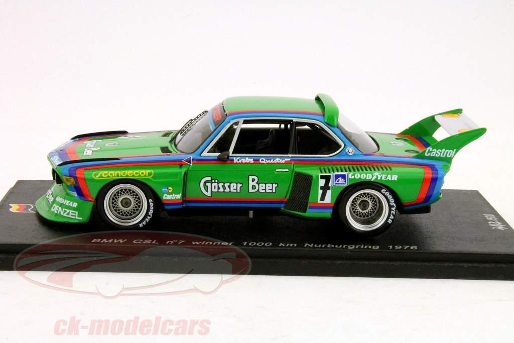 BMW CSL º 7 Winner 1.000 quilômetros Nurburgring 1976 Quester, Câncer 1:43 faísca