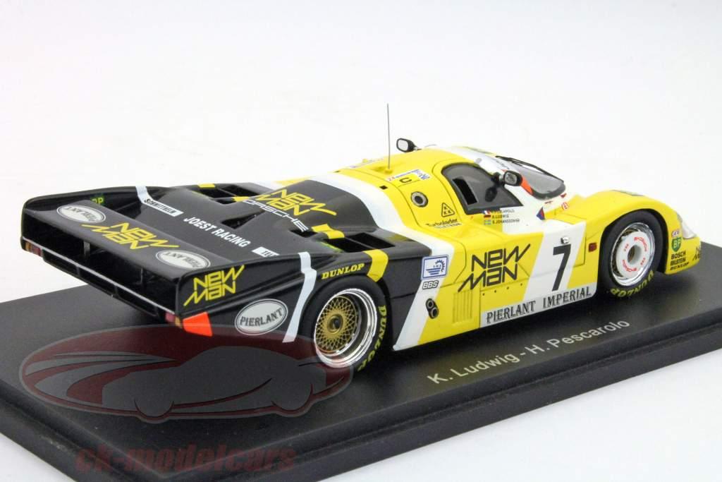 Porsche 956 #7 Vinder 24 timer i døgnet LeMans 1984 Ludwig / Pescarolo 1:43 Spark