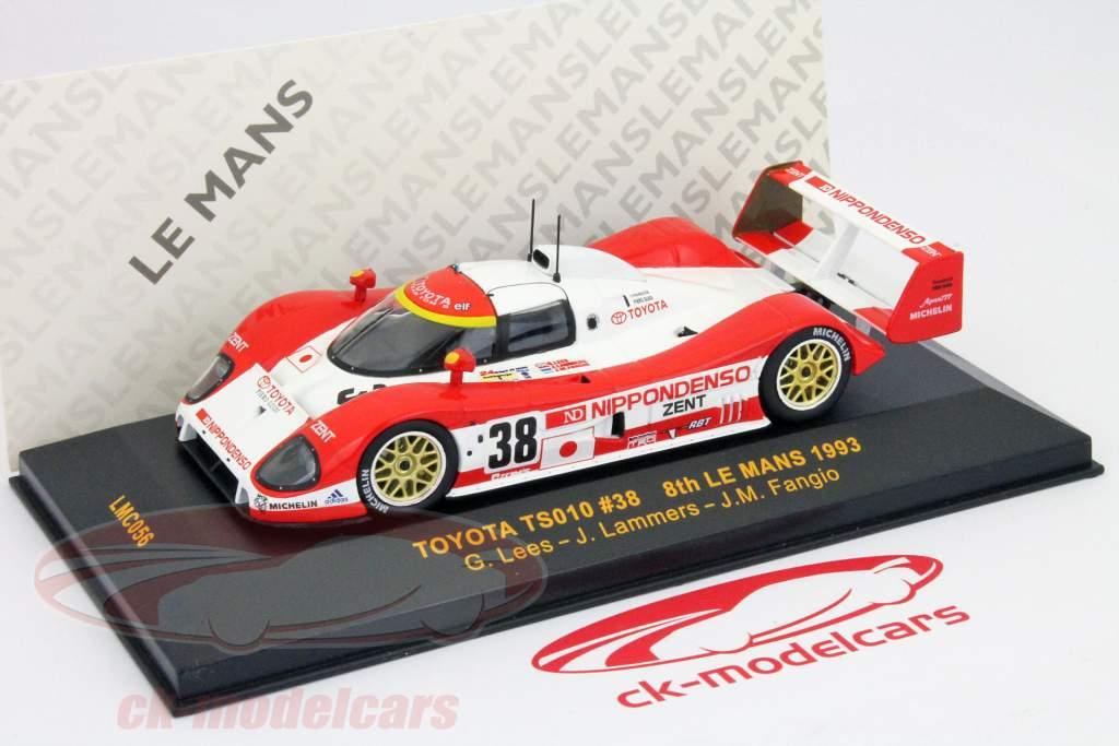 Toyota TS010 #38 8e plaats 24h LeMans 1993 Lees, Lammers, Fangio 1:43 Ixo