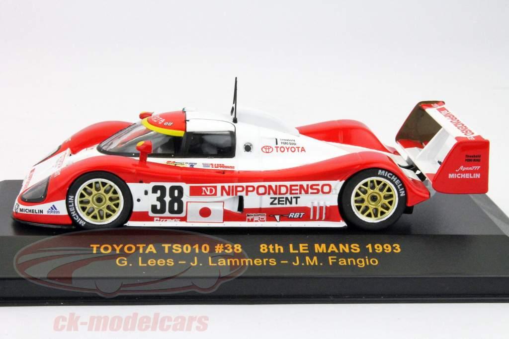 Toyota TS010 #38 Octavo lugar 24h LeMans 1993 Lees, Lammers, Fangio 1:43 Ixo