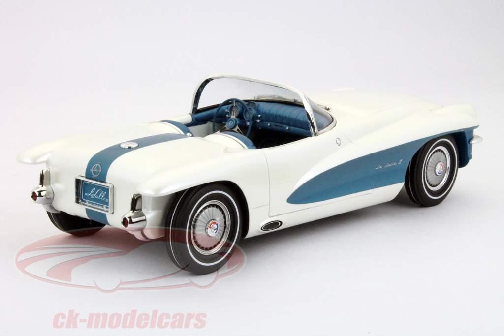 LaSalle II Roadster Concept MY 1955 GM White / Blue 1:18 Minichamps