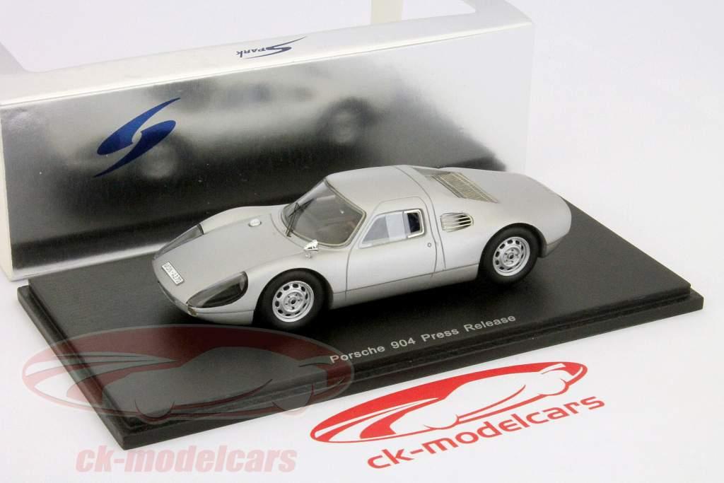 Porsche 904 Press Release silber 1:43 Spark