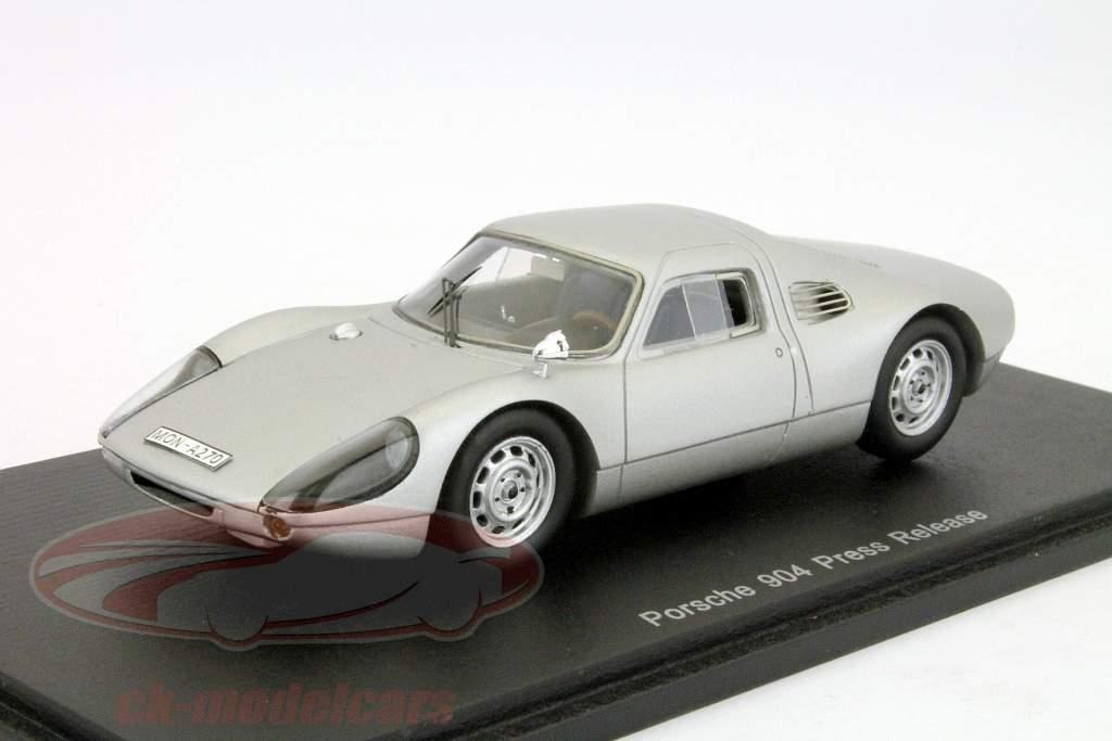 Porsche 904 Persbericht zilveren 1:43 Spark