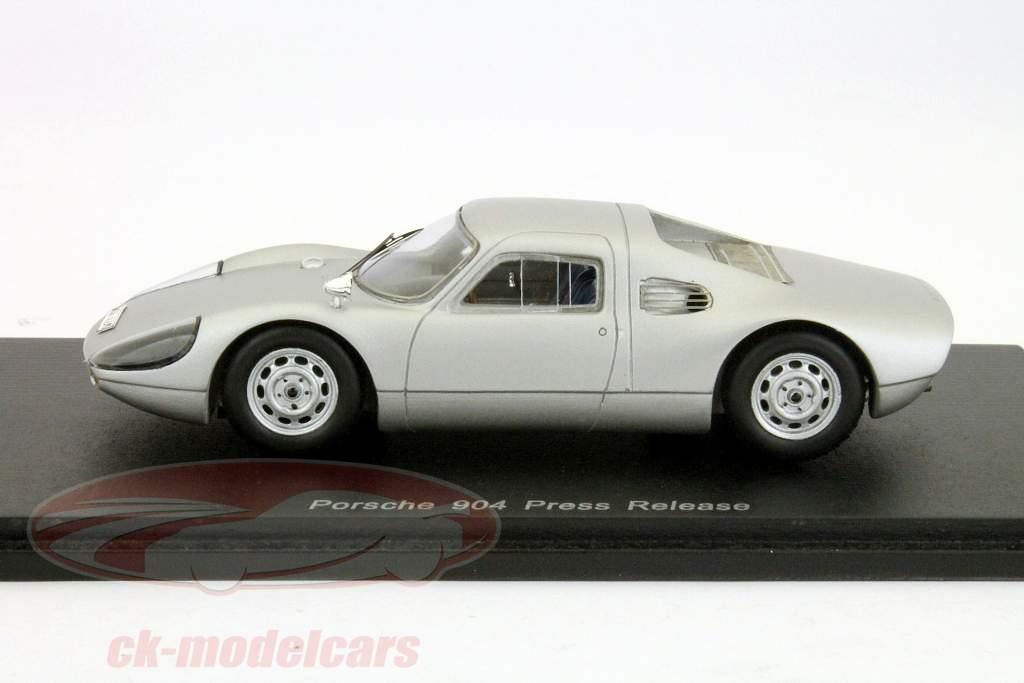 Porsche 904 Pressemeddelelse silver 1:43 Spark