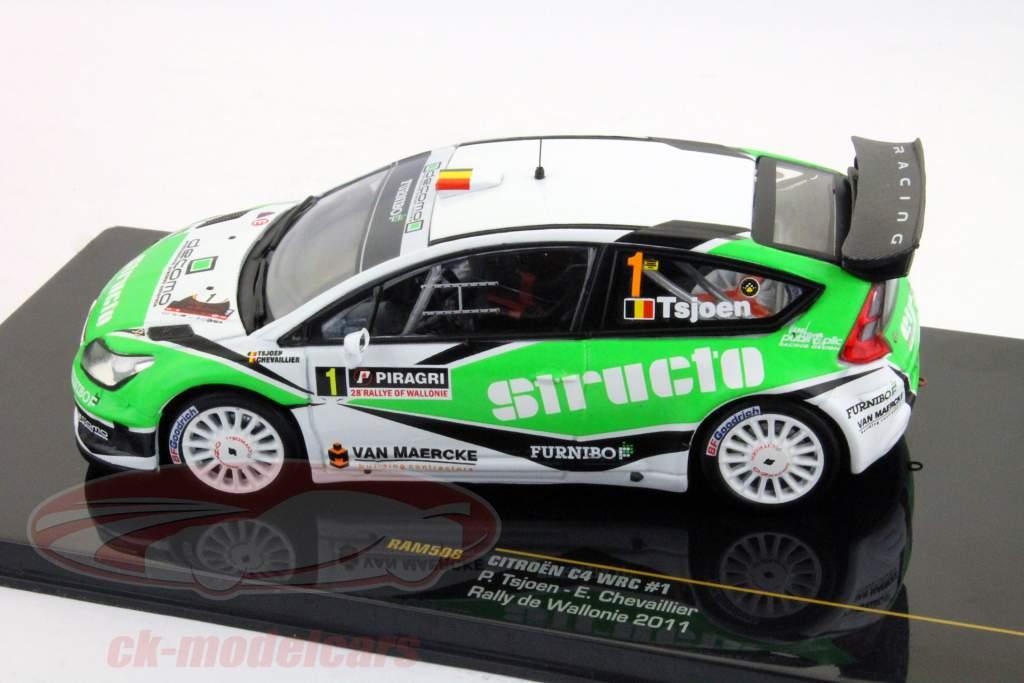 #1 Citroen C4 WRC Rallye de Wallonie 2011 Tsjoen, Chevaillier 1:43 Ixo