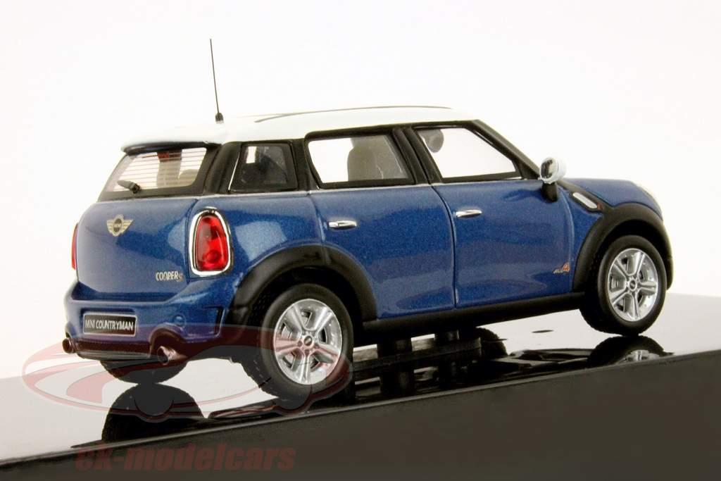 Mini Countryman Cooper S Baujahr 2011 blau 1:43 Ixo