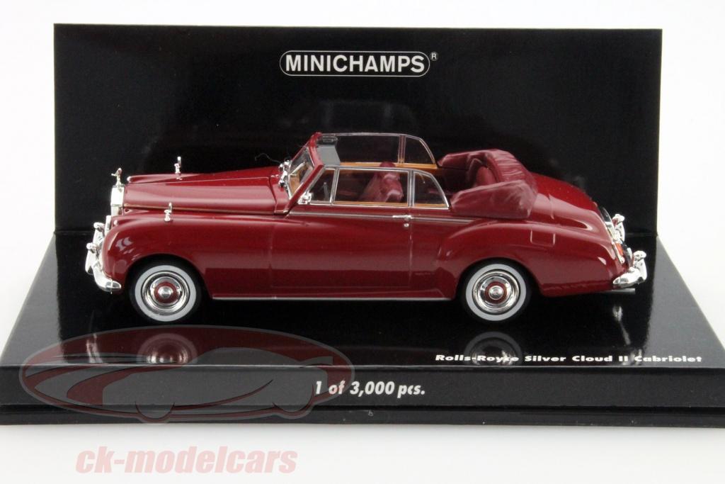 Minichamps 1:43 Rolls Royce Silver Cloud II cabriolet 1960-Red