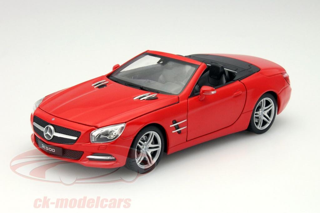 welly-1-24-mercedes-benz-sl-500-convertible-baujahr-2012-rot-24041/