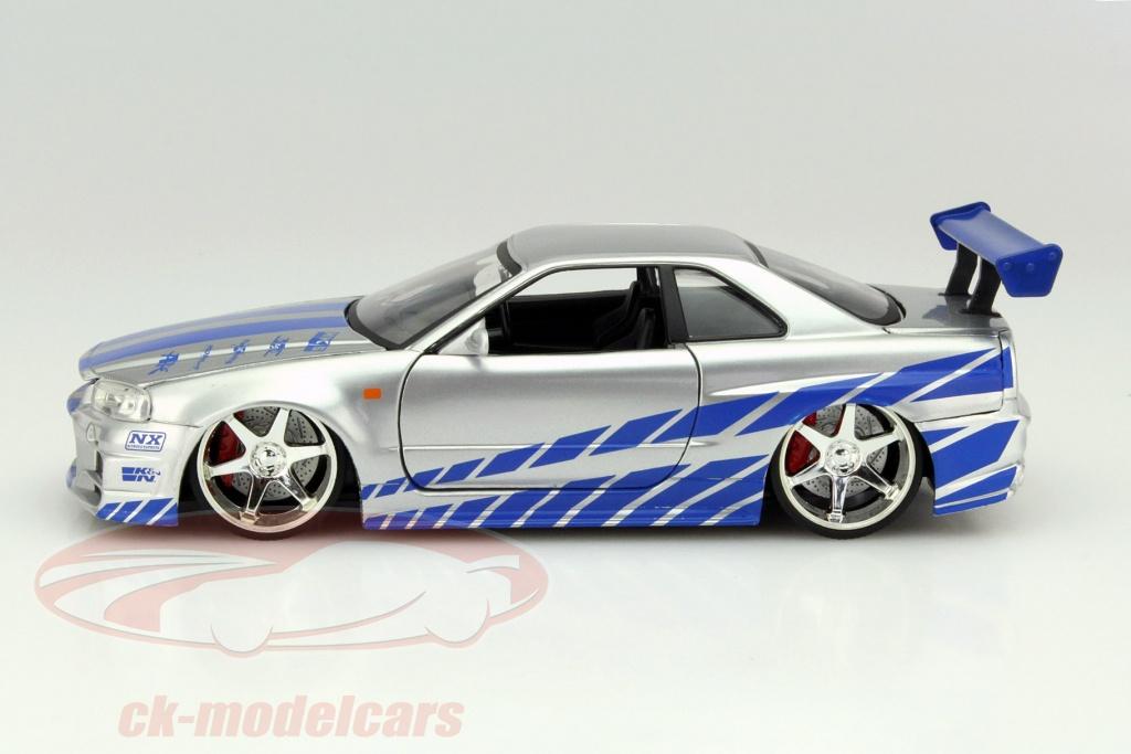 Nissan Skyline Gt-r r34 Aus Dem Film 2 Fast 2 Furious 2003 1:24 Jada Toys