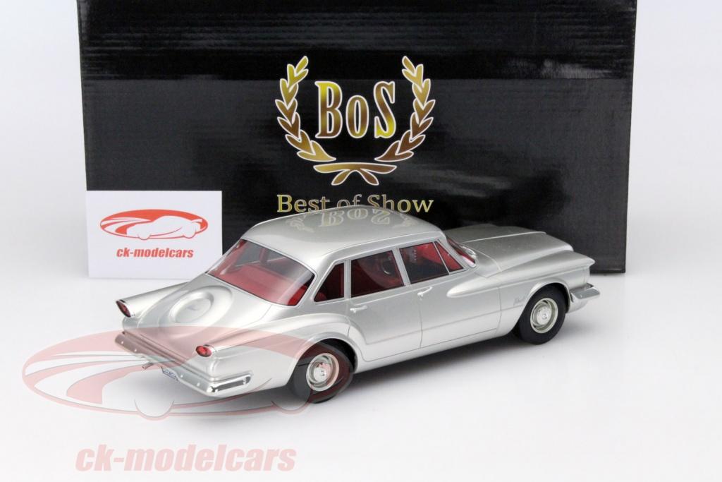 Bos Models 1 18 Plymouth Valiant Sedan 4 Door Year 1960 Silver Bos204 Model Car 209743