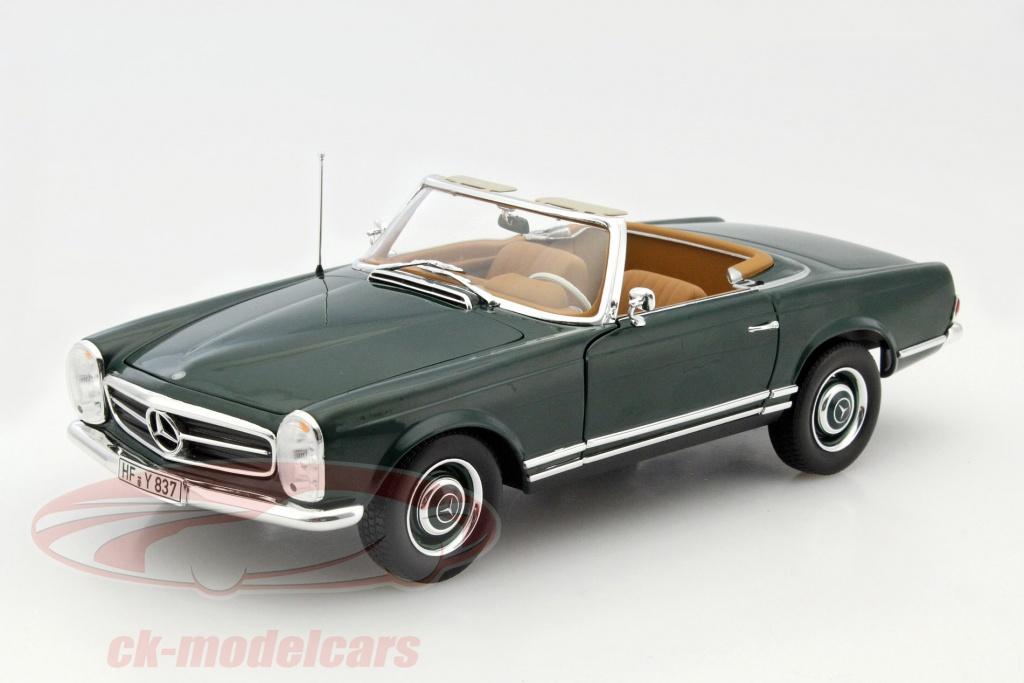 norev-1-18-mercedes-benz-230-sl-w113-pagode-cabriolet-annee-1963-vert-fonce-183506/