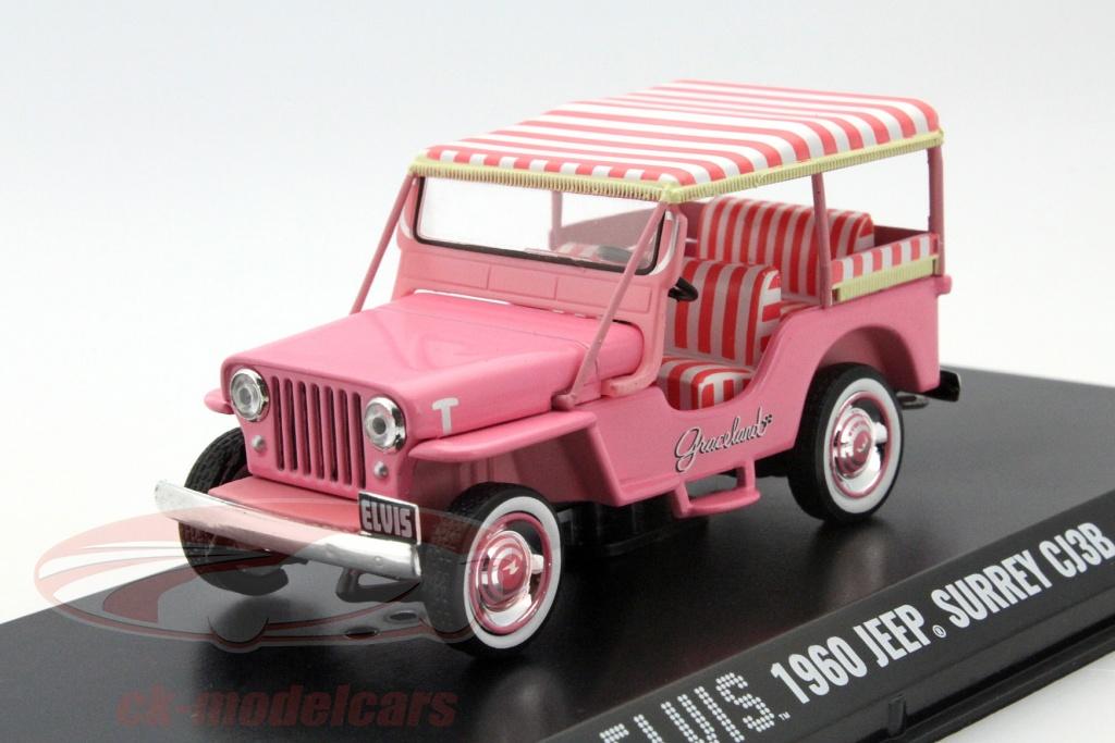 greenlight-1-43-jeep-surrey-cj3b-elvis-year-1960-pink-86472/