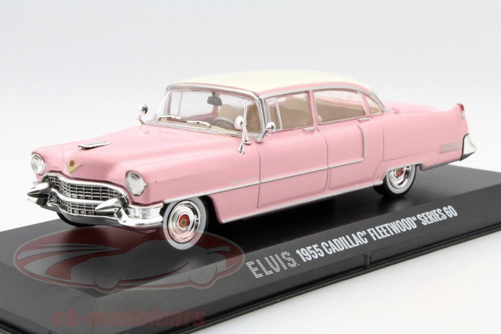 greenlight-1-43-cadillac-fleetwood-series-60-elvis-presley-r-1955-pink-med-hvid-tag-86491/