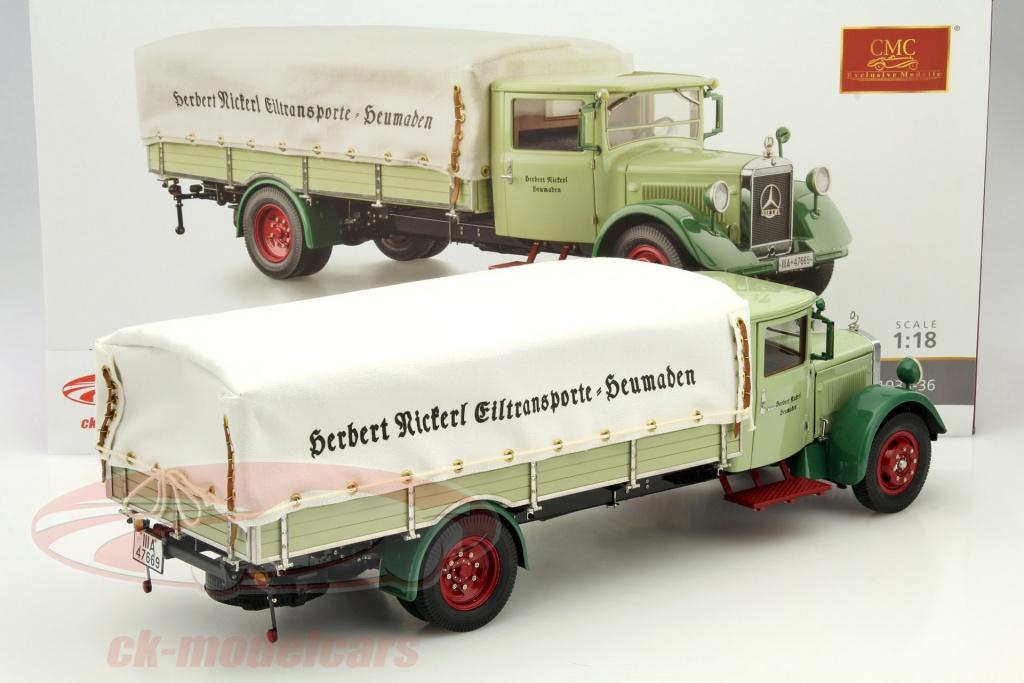 cmc-1-18-mercedes-benz-lo-2750-lkw-con-struttura-del-piano-anno-1933-1936-verde-m-170/