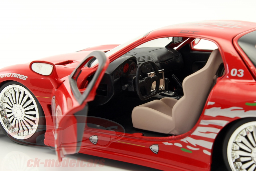 jadatoys 1:24 dom's mazda rx-7 fast and furious rot 98338 modellauto