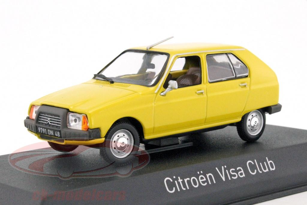 Norev 150940 Citroen Visa club amarillo 1979 coche modelo escala 1:43 nuevo °