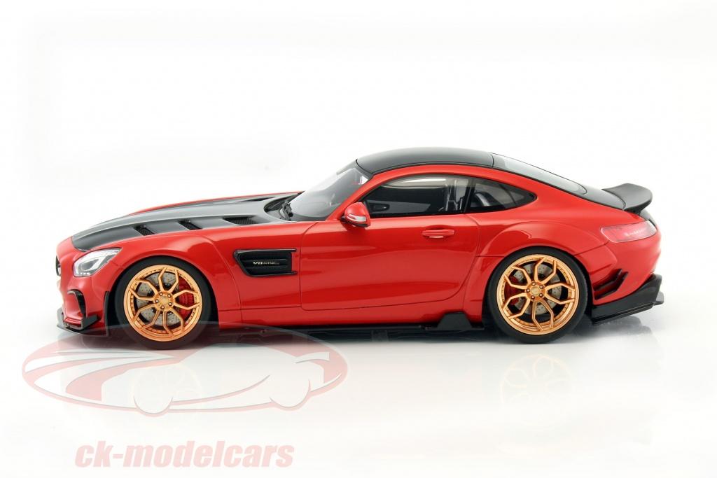 gt spirit 1 18 mercedes benz amg gt modified by prior design red black zm104 model car. Black Bedroom Furniture Sets. Home Design Ideas