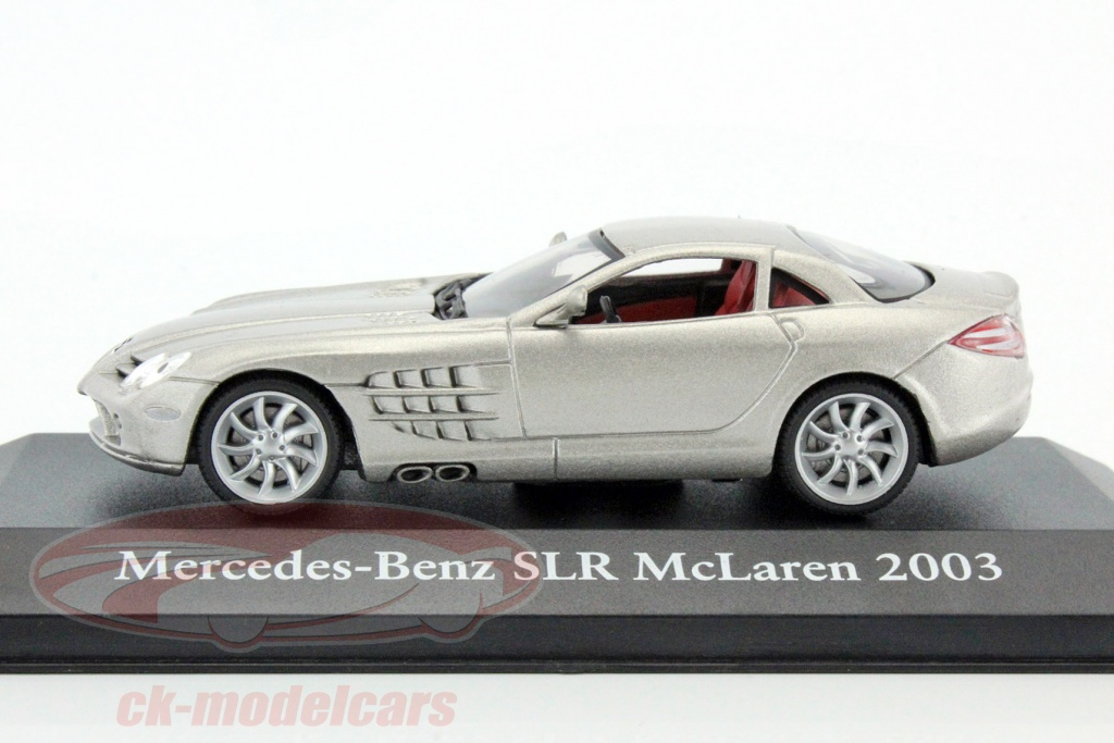 Atlas 1 43 Mercedes Benz Slr Mclaren Year 2003 Silver Metallic