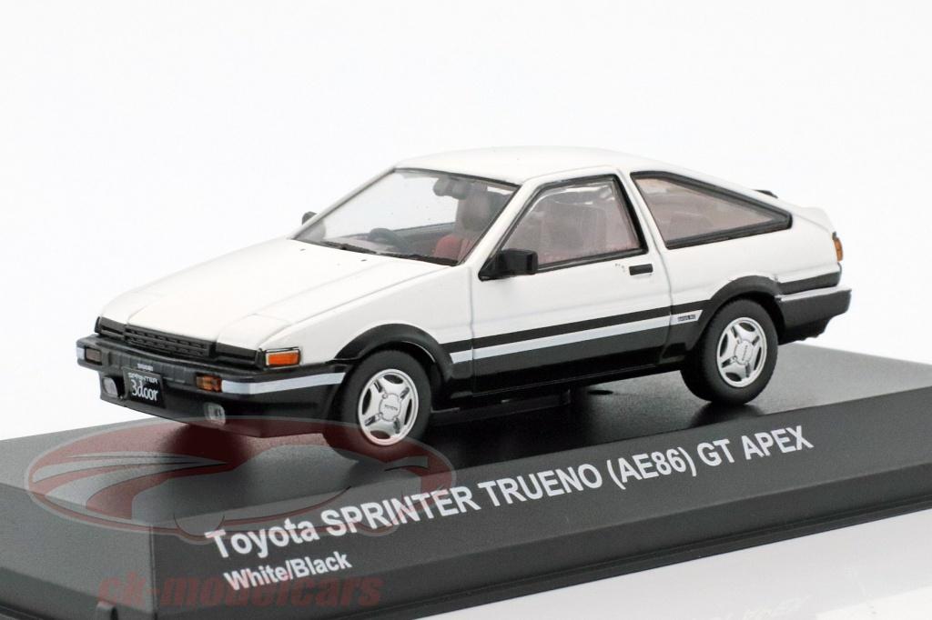 kyosho-1-43-toyota-sprinter-trueno-ae86-blanc-noir-3891w/