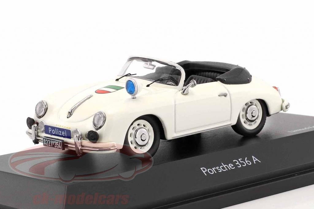 schuco-1-43-porsche-356a-cabriolet-police-white-450256600/