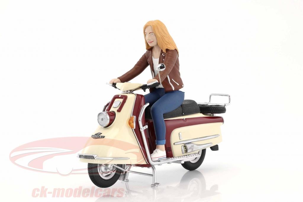 schuco-1-10-heinkel-scooter-year-1960-1965-dark-red-beige-with-driver-figure-450654400/