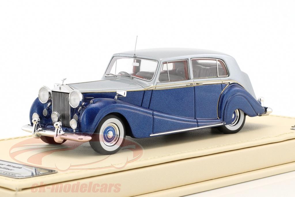 true-scale-1-43-rolls-royce-silver-wraith-touring-limousine-hj-mulliner-blue-silver-tsmce154310/