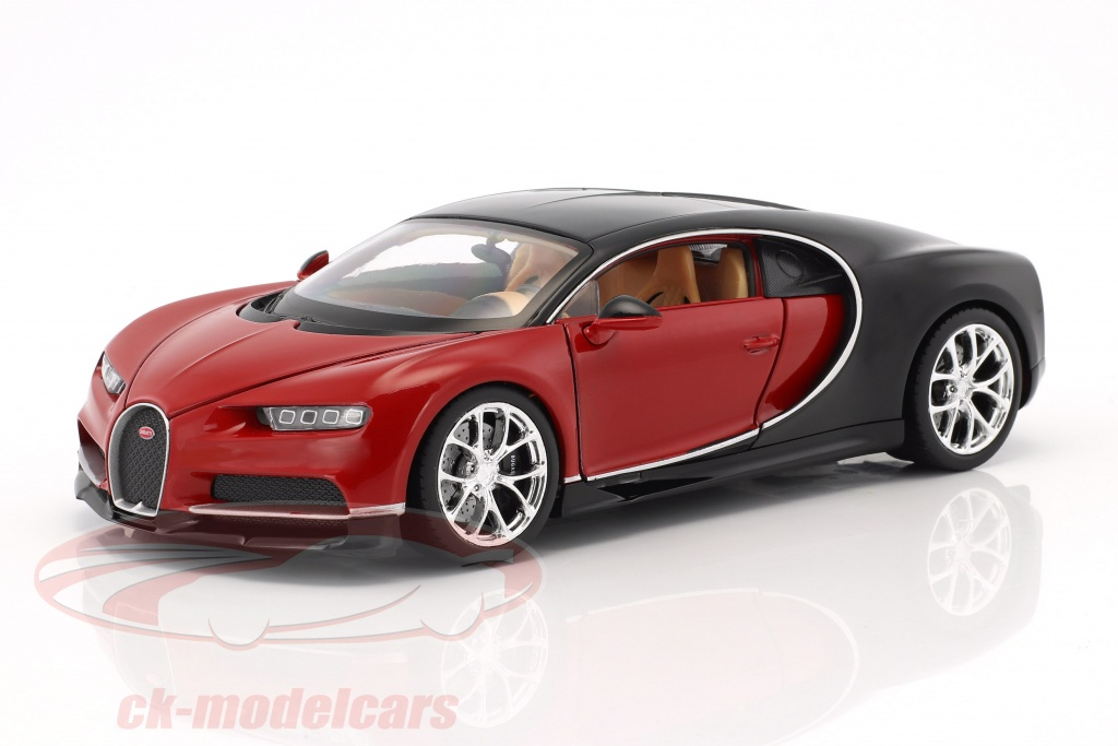 welly-1-24-bugatti-chiron-annee-de-construction-2017-rouge-noir-24077r/
