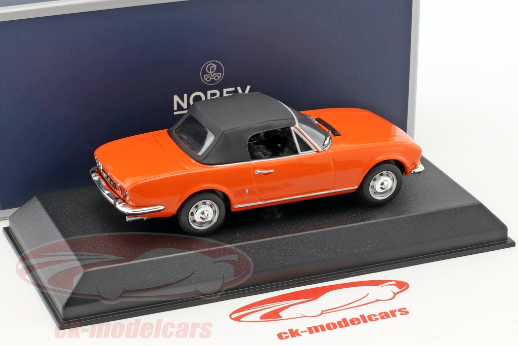 Norev 1 43 Peugeot 504 Cabriolet Construction Year 1970 Orange