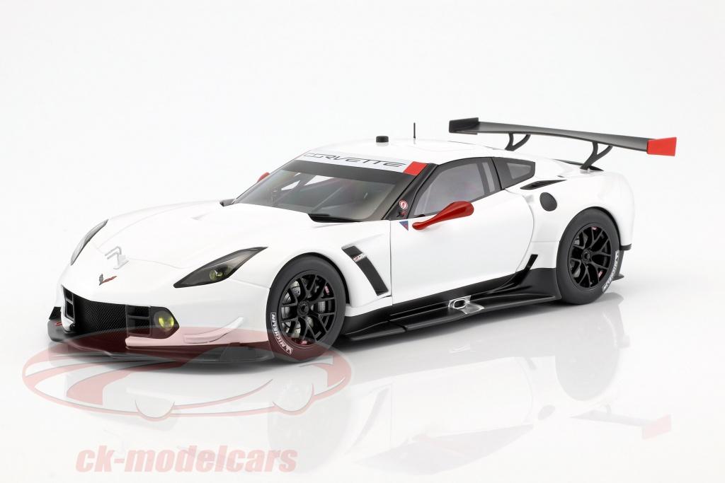 autoart-1-18-chevrolet-corvette-c7r-plain-color-version-year-2016-white-red-81650/