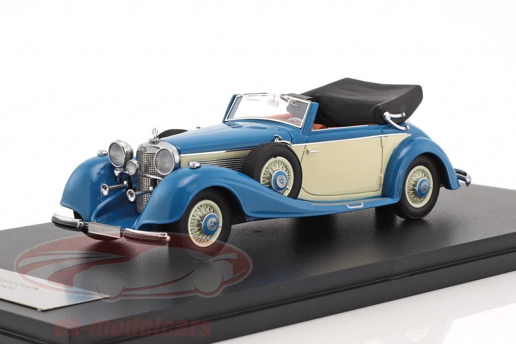 neo-1-43-mercedes-benz-540k-typ-a-cabriolet-annee-de-construction-1936-bleu-beige-neo46166/