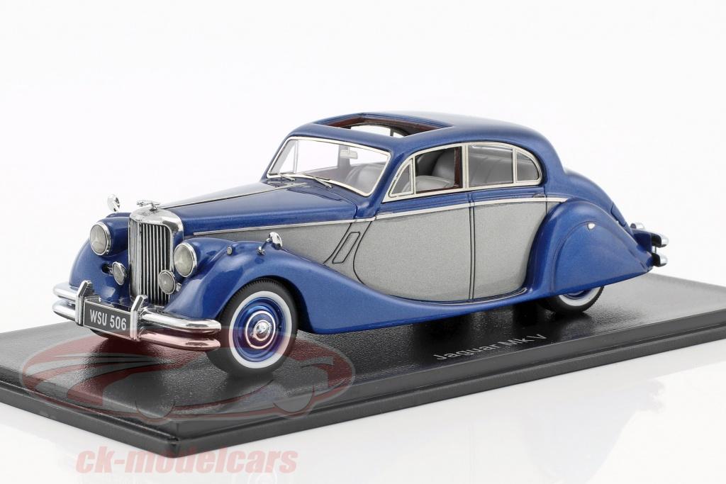 neo-1-43-jaguar-mk-v-year-1950-blue-metallic-silver-neo49544/