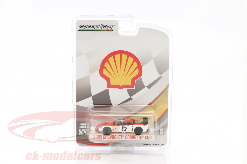 greenlight-1-64-chevrolet-corvette-c6r-no12-shell-oil-year-2009-white-orange-29907/