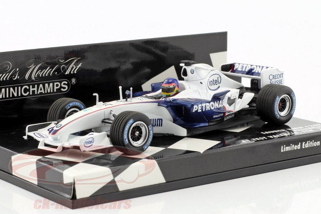 minichamps-1-43-jacques-villeneuve-sauber-bmw-c24b-no17-february-test-valencia-formula-1-2006-400060903/