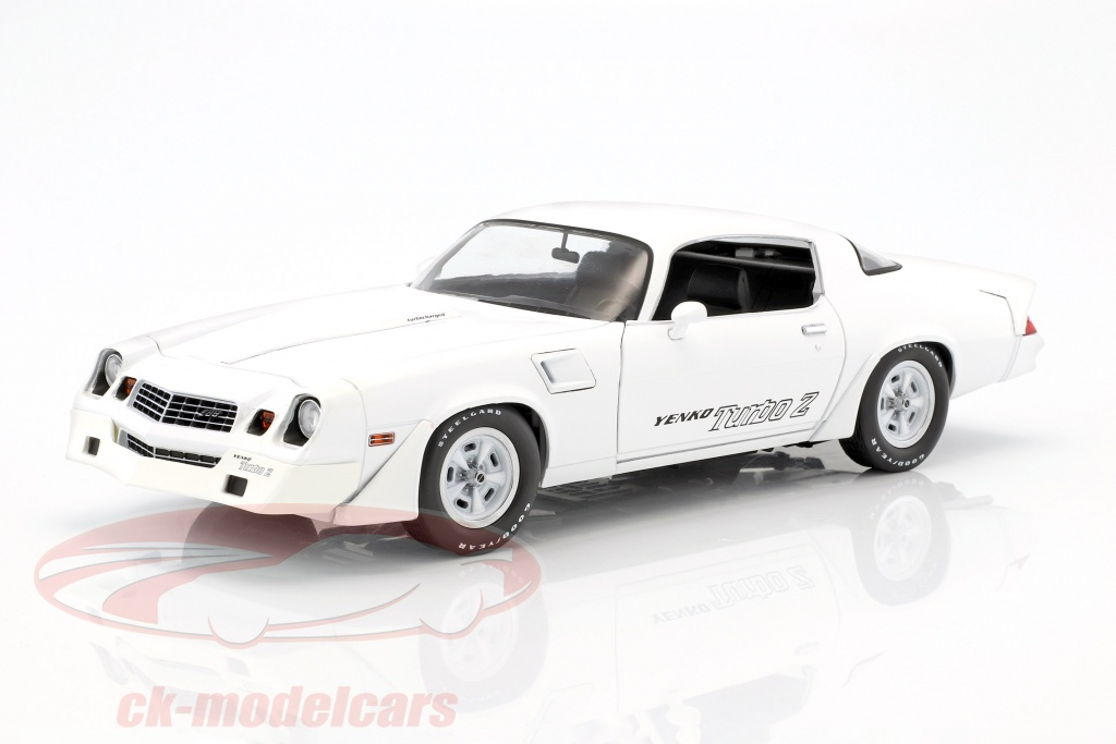 greenlight-1-18-chevrolet-z28-yenko-turbo-z-annee-de-construction-1981-blanc-12998/